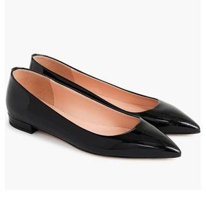 J.crew pointy toe patent leather shoes❤️